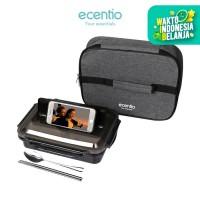 ecentio Kotak makan siang stainless steel+tas bekal berinsulasi set