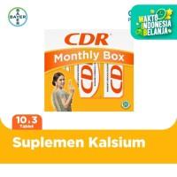 CDR Suplemen Kalsium Rasa Jeruk (10 Tablet x 3 Unit) - Monthly Box