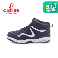 Ardiles Men Rexton Sepatu Basket - Hitam Putih - Hitam Putih, 40