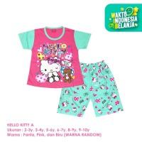 Baju Setelan Anak Perempuan Pendek 2-10 Tahun Hello Kitty A Shirton - KITTY A, 2-3y Pendek