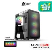 Fantech AERO CG80 Tempered Glass Casing Komputer PC Gaming Case Temper