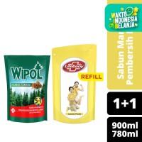 Lifebuoy Sabun Mandi Lemon 900ml dan Wipol Pembersih Lantai 780ml