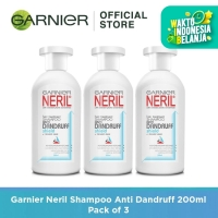 Garnier Neril Shampoo Anti Dandruff 200ml Pack of 3