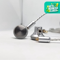 Custom Earphone High End Reference Open Back MMCX Cable Detachable - Hitam, With Mic