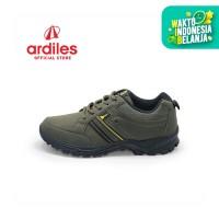 Ardiles Men Calamity Sepatu Running - Hitam Hijau