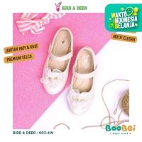 DEFECT SALE Bird & Deer - White / Sepatu Glitter Anak / Sepatu Pesta