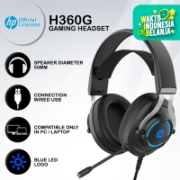 Headset Gaming HP H360G - Blue LED USB Wired