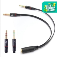 Y Splitter Cable 2 Male 1 Female Jack 3.5mm PC Audio Microphone