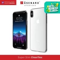 ASENARU iPhone X Case - Super Slim ClearFlex Case - Crystal Clear