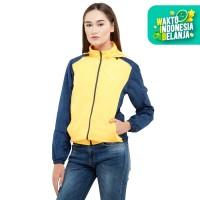 ZOLEKA Zetta Jaket Motor Packable Tahan Angin Wanita - Yellow Navy