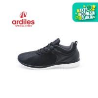 Ardiles Men Miralem Sepatu Running - Hitam Putih