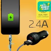 VYATTA Dual Port 2.1A Fast Car Charger - GARANSI 12 BULAN TANPA BATAS