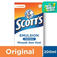 Scotts Emulsion Original dengan Omega 3, Vitamin A dan D 200ml