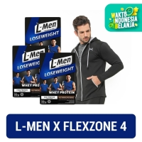 3 Box L-Men Lose Weight Choco Cereal 300gr + FLEXZONE Jacket: Black