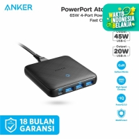Wall Charger Anker Powerport Atom III Slim 4 Ports Black - A2045