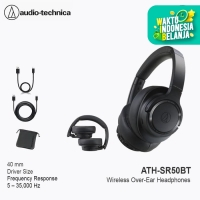 Audio-Technica ATH-SR50BT Wireless Over-Ear Headphones - Black