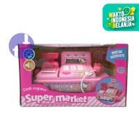 Mainan Anak Kasir Cash Register Super Market Pink Hello Kitty 5524