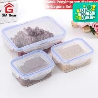 GM Bear Kotak Makan Serbaguna Set 1105-Lunch Box Set isi 3