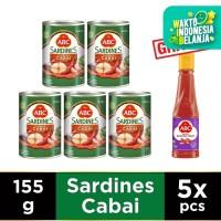 ABC Sarden Saus Cabai 155 g - Buy 5 Get 1 Free Sambal Bawang Pedas 135