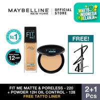 Maybelline Foundation Fit Me Matte 220 + Powder 128