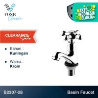 VONE CLASSIC B2307-28 Keran Kran Air Wastafel Baling Kuningan Chrome