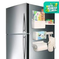 Kulkas Organizer Rak Refrigarator Rack Multifungsi Praktis Magnet