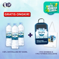 Crystalline Mineral Water 600ml - [Bundle 3 Pcs] + Shoesbag + Totebag