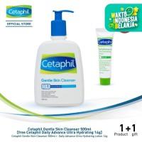 Cetaphil Gentle Skin Cleanser 500ml [free Cetaphil Daily Adv 14ml]
