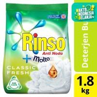 Rinso Molto Detergen Deterjen Bubuk Anti Noda Classic Fresh 1800Ml