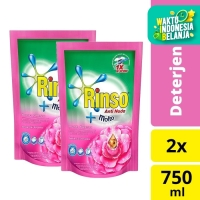 Rinso Molto Deterjen Cair Pink 750ml - Twin Pack