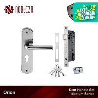 NOBLEZA Orion Medium SN/CP Door Handle Set Paket Gagang Kunci Pintu
