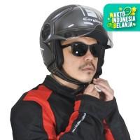Cargloss YR HC Protect Helm Retro Half Face - Deep Black doff (SG)