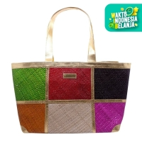 Tuku Tuku Craft Totebag Handmade Rotan Wanita - Mix Color