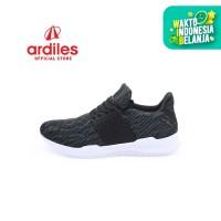 Ardiles Men Hauroko Sepatu Running - Hitam Abu