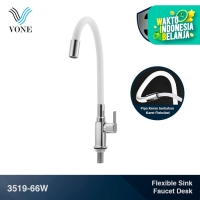 VONE 3519-66W Keran Kran Air Fleksibel Angsa Cuci Piring Tanam Putih