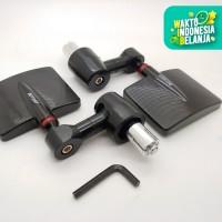 Spion Jalu BarEnd Kotak Classic Vespa Nmax Aerox Dll CNC hitam