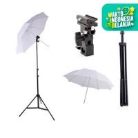 "Light Stand + B Bracket + Payung Putih / Transparent 33"""