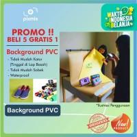 50 X 30CM - BACKGROUND FOTO PRODUK - BAHAN PVC POLOS  5 GRATIS 1