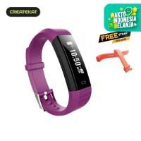 Createkat Smartwatch Pedometer Langkah Smart Band Katfit Classic - Ungu