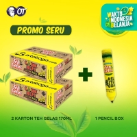Teh Gelas - Original 170ml - [2 Karton] + Pencil Box