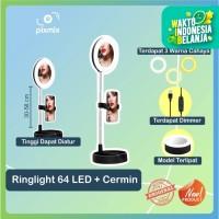 Cermin Selfie Makeup Artist + 64 LED Ring Light   Ringlight TikTok