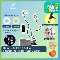 Ring Light 2 LED Selfie Smartphone Holder + Lazy Bracket