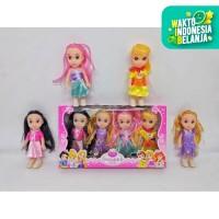 Mainan Anak Perempuan Boneka Mini - Boneka Fashion Beautiful Set 4 pcs
