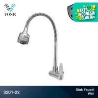 VONE 3201-22 Keran Kran Air Fleksibel Angsa Sink Cuci Piring Stainless