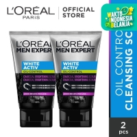 L'Oreal Paris Men Expert White Active Charcoal Scrub Twinpack