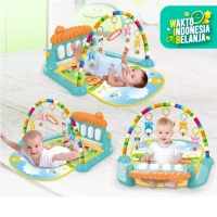 Baby Gym Musical Set Musik Bayi Playgym Matras Mainan Piano HE0639