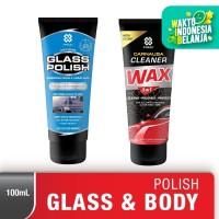 Primo Glass Polish 100gr + Carnauba Cleaner Wax (body polish) 100mL