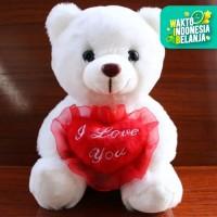 Boneka Beruang Teddy Bear LED dgn lampu menyala dan suara I LOVE YOU