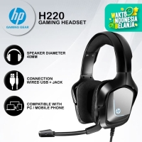Headset Gaming HP H220 - Blue LED USB+Jack Wired