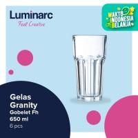 Luminarc Gelas Granity - Gobelet Fh 650 ml - 6 pcs - Bening
